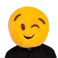 Smiley clin d oeil mascot